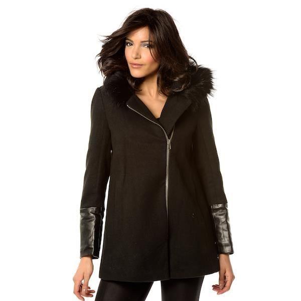 Manteau et à double zip trapèze UCqZa
