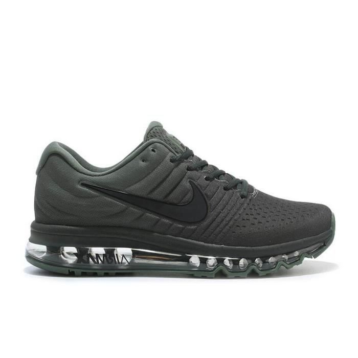 hommes nike air max 2017 chaussures de running vert arm e tu achat vente basket soldes. Black Bedroom Furniture Sets. Home Design Ideas