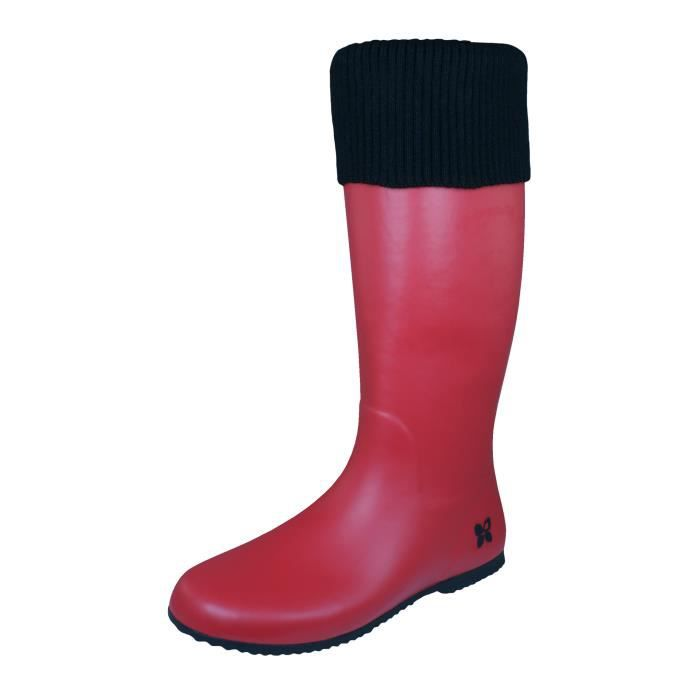 Butterfly Twists Windsor Wellies Bottes Wellington pour femmes Rouge 8 3V1IKd