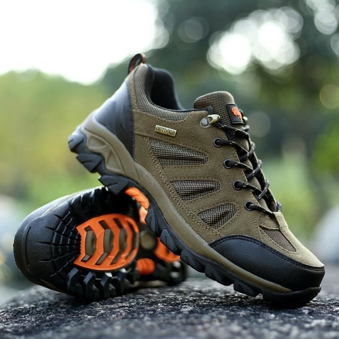 Bottes pour Hommearmée verte 45 Résistance Skid Chaussures de randonnée de montagne imperméables Chaussures d'escalade_41111