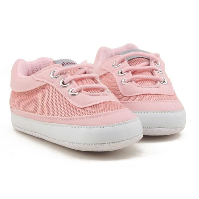 Tout-petits filles garçons dentelle Chaussures de lit prémarcheur semelle douce espadrilles blanc 2GOvIT0