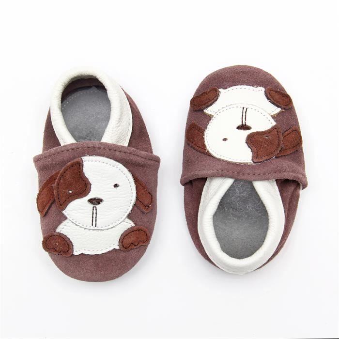 f5ec1ce24767d CHAUSSON - PANTOUFLE Chaussures Bébé - Chaussons Bébé - Chaussons Cuir.  Dessus  Cuir véritable souple ...