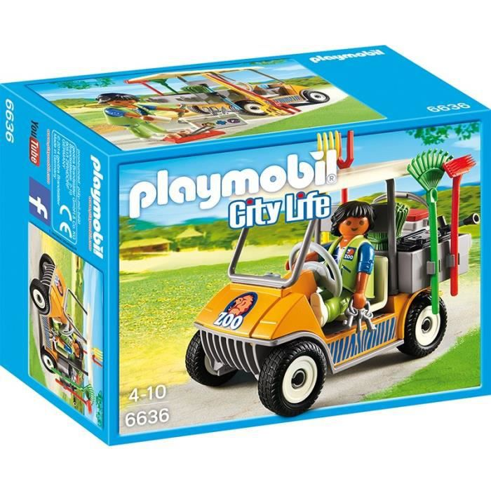 playmobil 6636 soigneur animalier avec v hicule achat vente univers miniature cdiscount. Black Bedroom Furniture Sets. Home Design Ideas