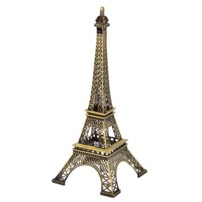 Décoration Tour Eiffel miniature séparable Métal Bronze Modèle
