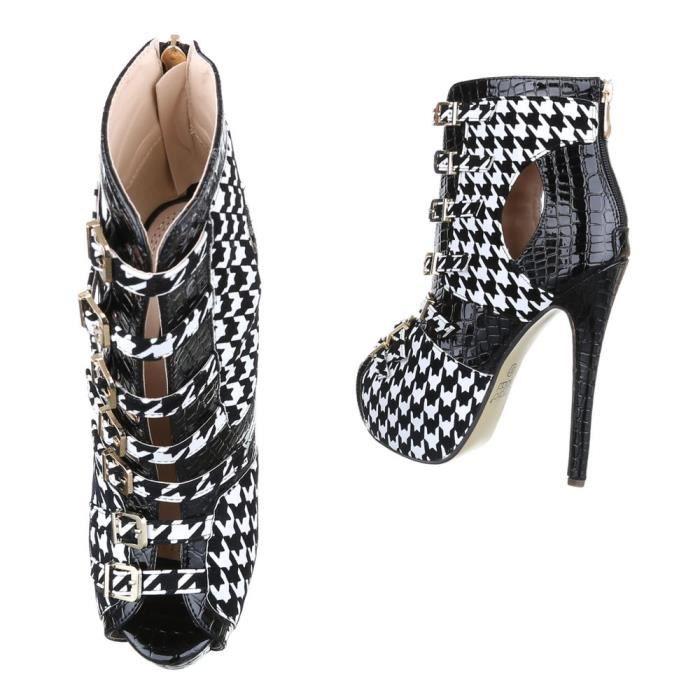 femme escarpin chaussure Plateau Boots High Heels