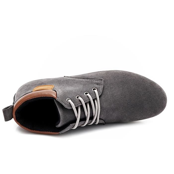 Chaussures En Toile Hommes Basses Quatre Saisons Casual DTG-XZ116Gris44 O9Xpz2