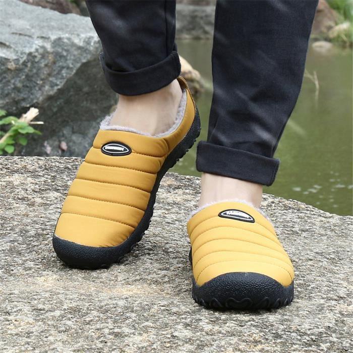 Velours et chaussures femmes Peluche courte Sneaker femme Chaussure pour Hiver le coton chaussures Loisirs Cha dssx413jaune41 hNLxq