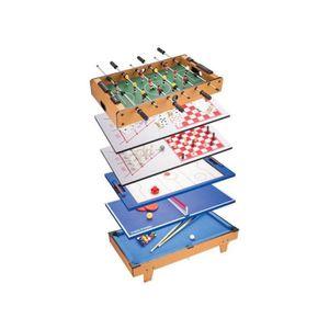 MALLETTE MULTI-JEUX Table Jeux multiples 8 en 1