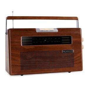 RICATECH - PR390 - Radio retro classique en bois AM/FM