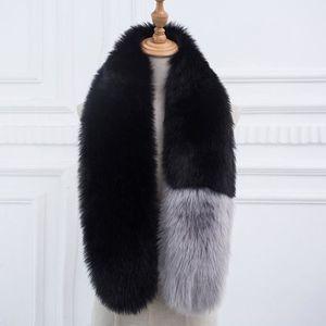 ECHARPE - FOULARD Younege® écharpe col fourrure synthétique hiver fa c6313e3aeeb