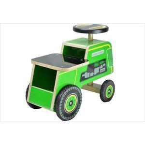 PORTEUR - POUSSEUR Porteur bois bébé Tracteur vert