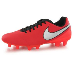new style 67acd 5b799 CHAUSSURES DE FOOTBALL Nike Tiempo Genio 2 Leather Fg rouge, chaussures d