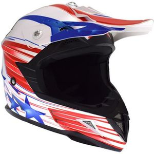 CASQUE MOTO SCOOTER Casque Cross Adulte ATRAX Starcross - Rouge / Bleu