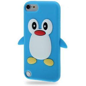 COQUE MP3-MP4 Coque silicone cartoon Pingouin ipod touch 5 bleu