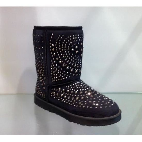 Bottes/boots femme 40 noir strass fourrees fourrure MgS00rpMf8