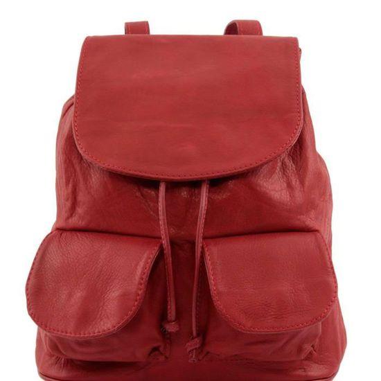 Sac à Leather Dos Seoul Rouge Cuir Modèle Tuscany Petit En q1vWTf1p