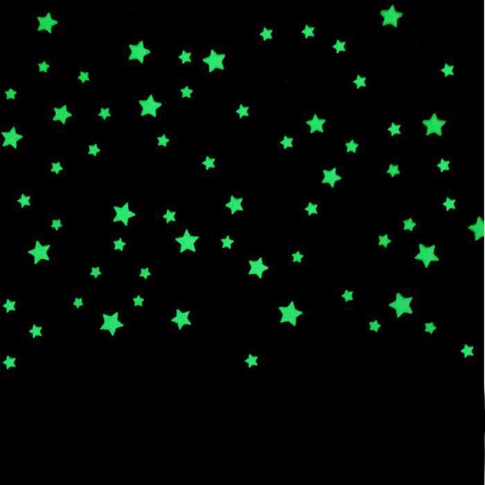 100 Pc Stickers Muraux Pour Enfants Chambres Belle Fluorescent Lueur
