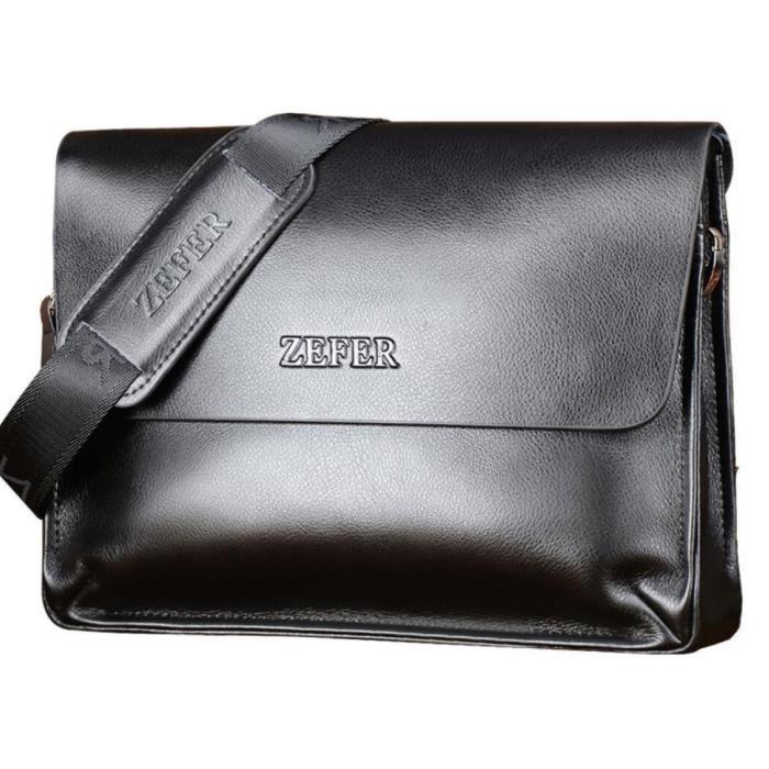 9993327e793 Porte-documents les Sacs de cuir neuf cartable sac à main affaires et de  loisirs épaule marque hommes Messenger SAC Noir