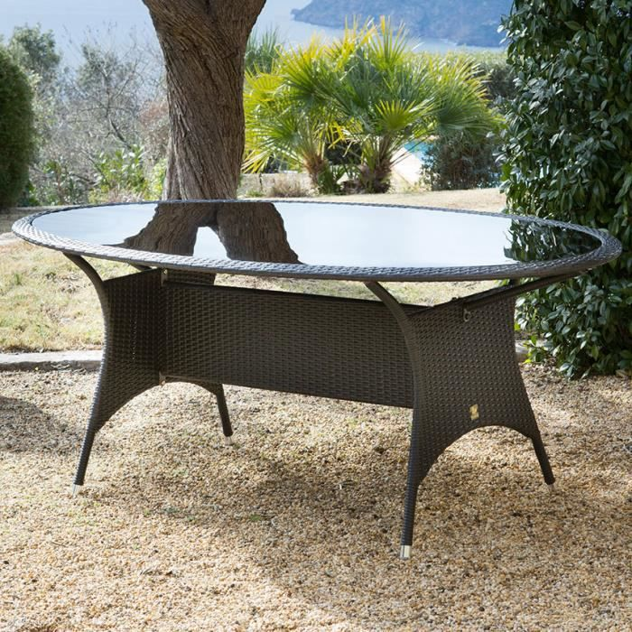 Awesome Table De Jardin Ovale Resine Tressee Gallery - House ...