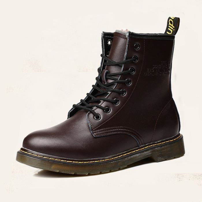 Homme cuir chaussures martin bottes hommes haut-dessus chaussures occasionnels