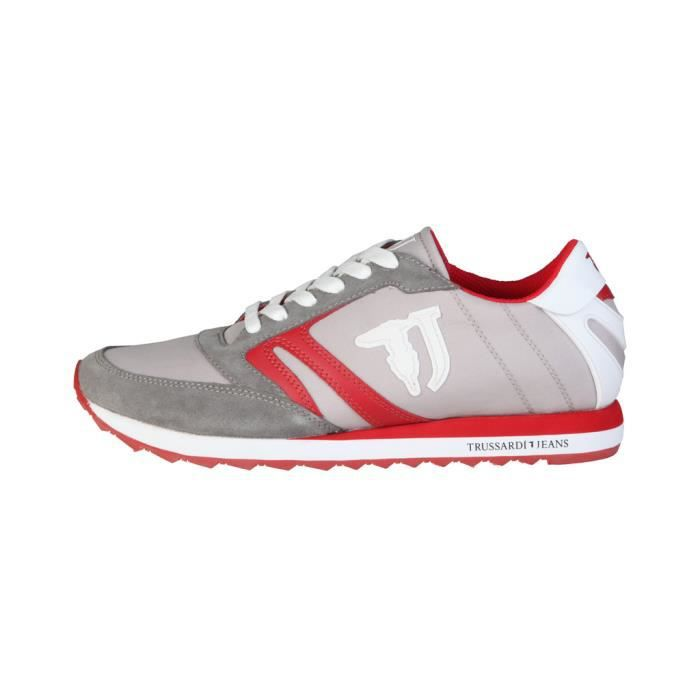 Trussardi - Sneakers pour homme (77S605_235_GREY-RED-WHI) - Gris