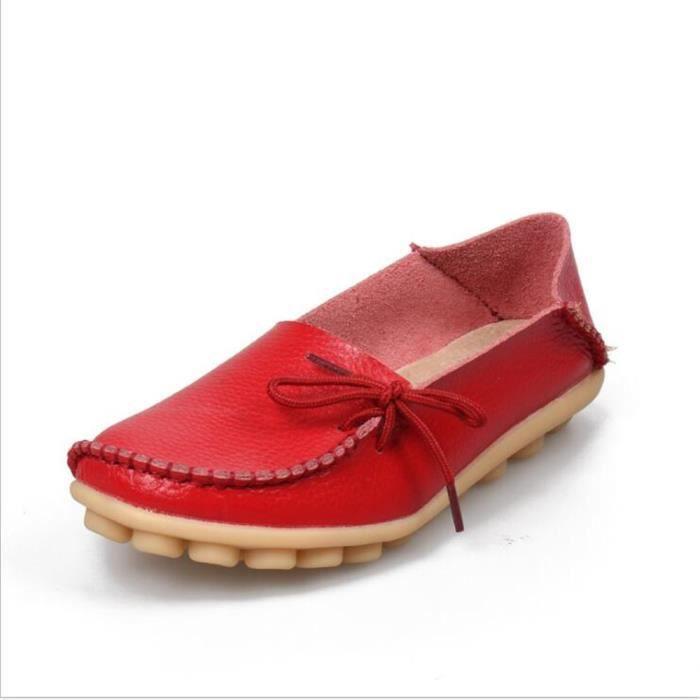 Loafer femme37 rouge