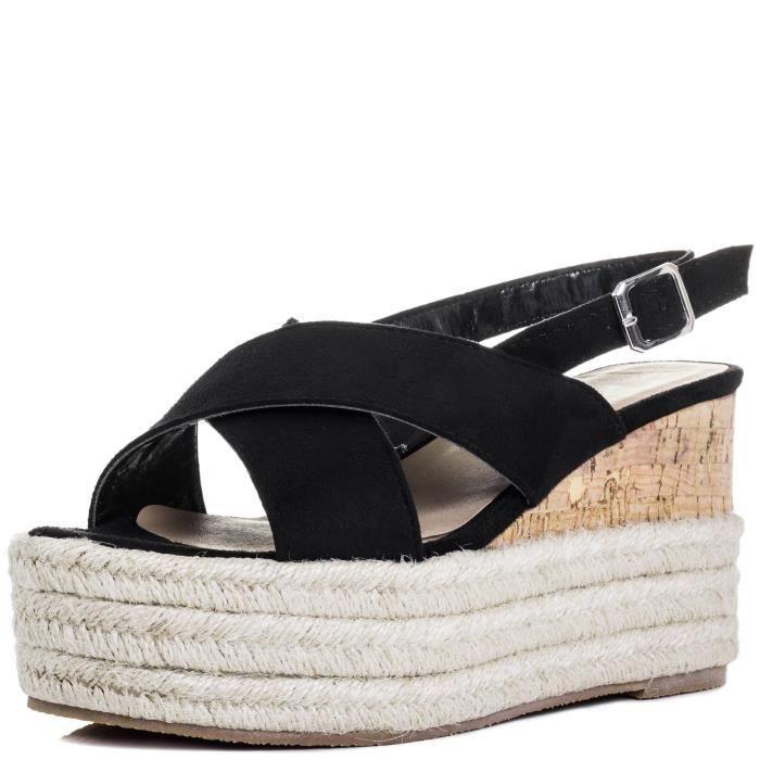 3yxl7w Taille Sandals Women's 37 Espadrille Dutch Shoes Wedge Heel Courage Platform nx18wz7q