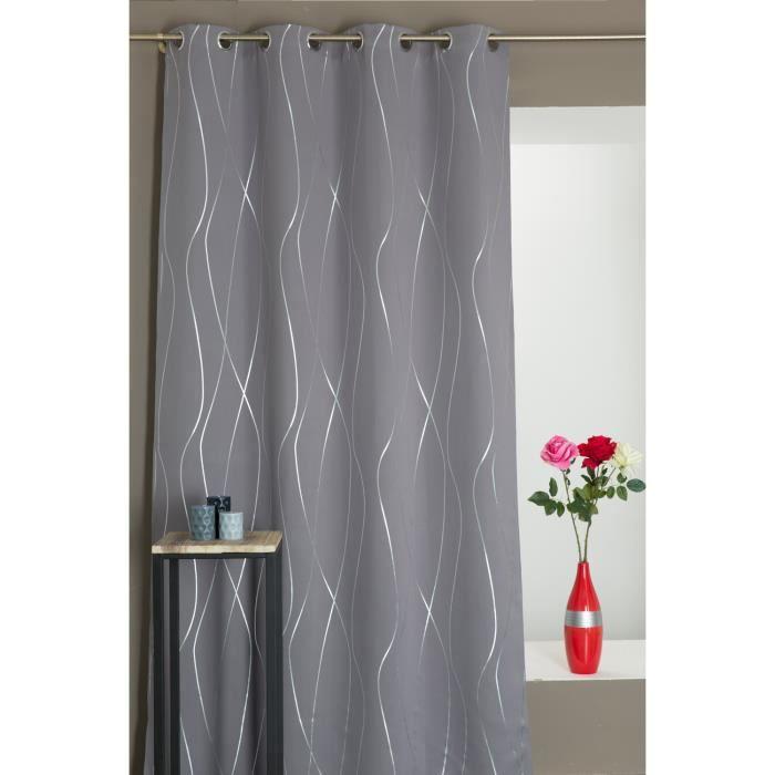 rideau violet et gris simple rideau double voilage violet with rideau violet et gris simple. Black Bedroom Furniture Sets. Home Design Ideas