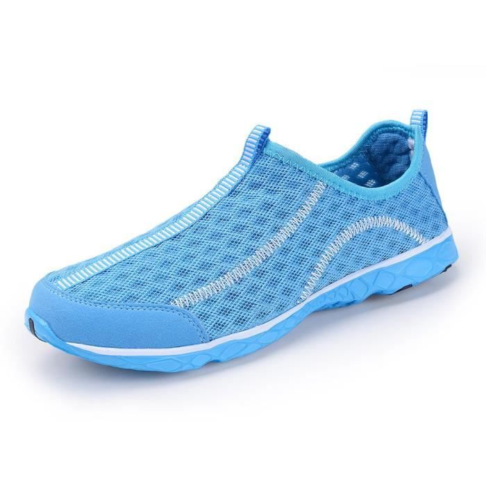 Water Shoes Mens Quick Drying Aqua Shoes Beach Pool Shoes Mesh Slip On S8757 Taille-44 1-2