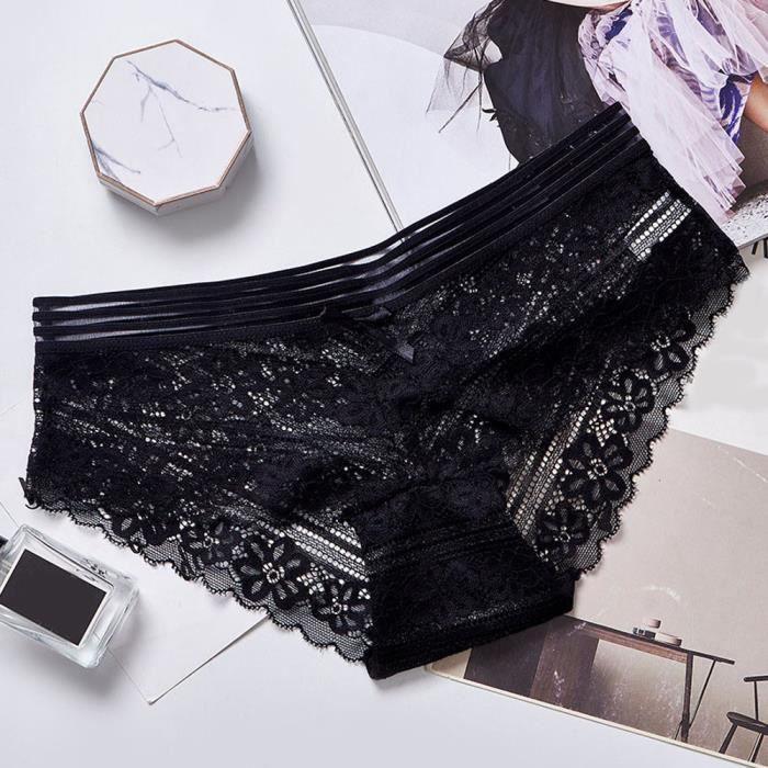 string Femmes Thongs Sous Taille 1pc Noir Dentelle Lingerie Fleurs vêtements Basse Culotte Lzp81031144 G zqxdv1w