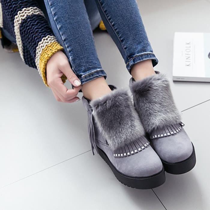 2017 tube hiver, les bottes de neige bottes femmes polaire étudiants imperméable plates antidérapantes jupe chaussures en coton
