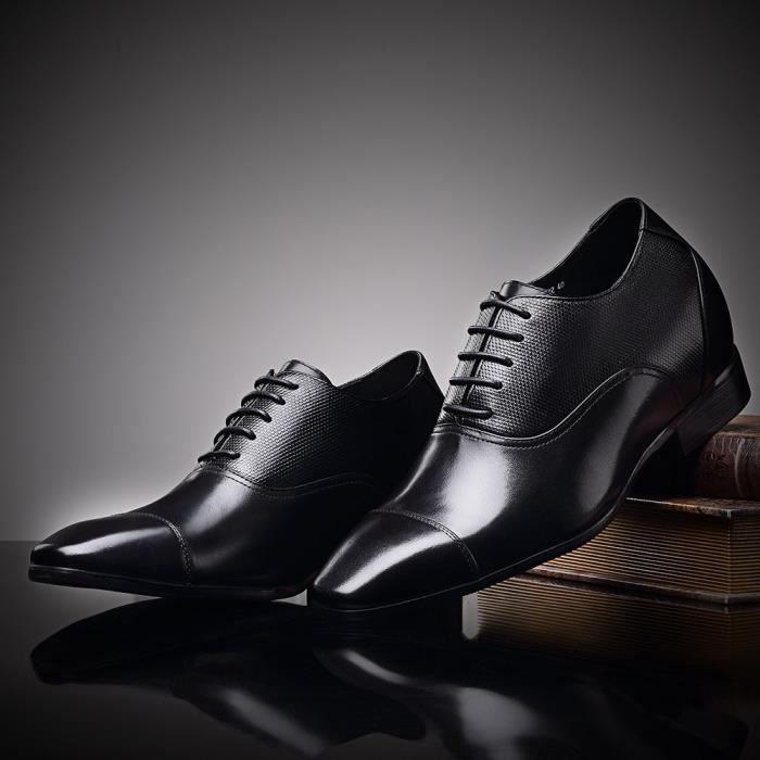 Petit hauteur carré cuir Sh bout talon Brown véritable 39 de PWI4M croissante Oxfords haut en Taille robe Ascenseur mariée Yt58xRq