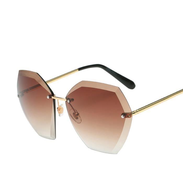 Femmes hommes lunettes de soleil été vintage retro Square dégradé couleur lunettes D6