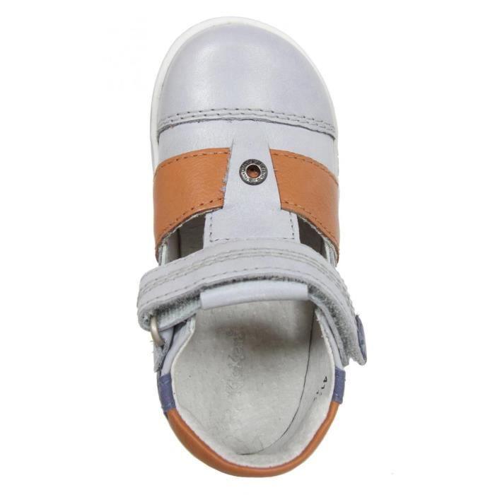 Chaussures pour Garçon KICKERS 413540-10 TROPICALI GRIS BLEU