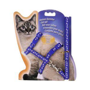 LIVRE ANIMAUX Nylon Pet Cat Kitten Laisse en plomb réglable coll