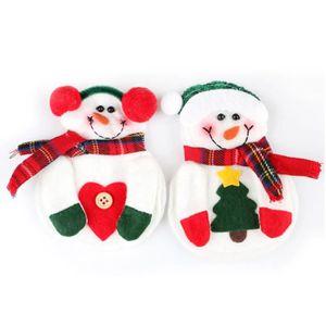 Décors de table 4pcs Décoration Noël Poche Porte-Couverts en forme