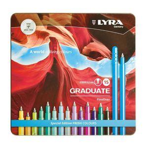 FEUTRES Boîte de 15 feutres LYRA Graduate Fineliner de Lyr