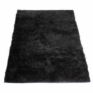 tapis shaggy noir achat vente tapis shaggy noir pas. Black Bedroom Furniture Sets. Home Design Ideas