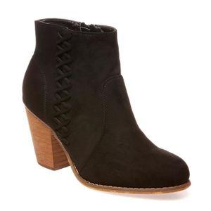 Oaleen Bottines hiver femme élégante suède talon moyen bloc chaussures boots soirée mariage noir 46 XsfgGywh