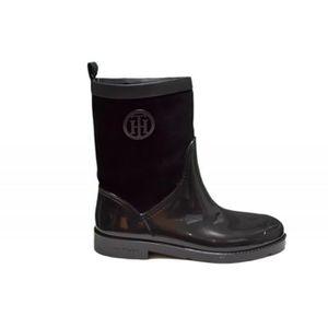 Bottines plates Tommy Hilfiger Tessa en cuir noire pour femme - Couleur: Noir - Taille: 41 3Xi9HMbY