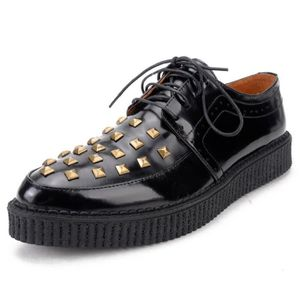 DERBY Derby Hommes Cuir Platform Punk Creepers Lacets Ch