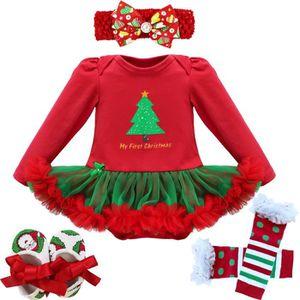 fd2711f5ea7fa Ensemble de vêtements ensemble Body Bébé Noël Filles Vêtements imprimé s
