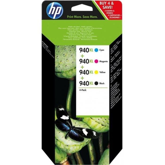 HP Pack de 2 Cartouches d'encre 940XL Original - Noir et couleur - 1 400 pages - Blister