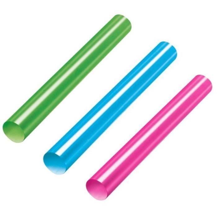 STANLEY Lot de 12 bâtons de colle base température - Rouge / vert / bleu - 11,3x101mm
