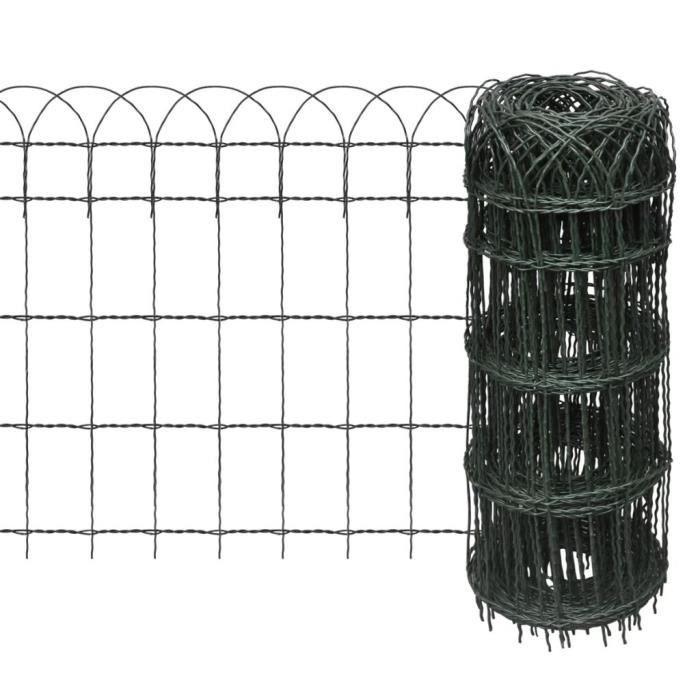 Version mise à jour Clôture de jardin Grillage Bordure de jardin de fer  pour plantes et animaux 25 x 0,65 m