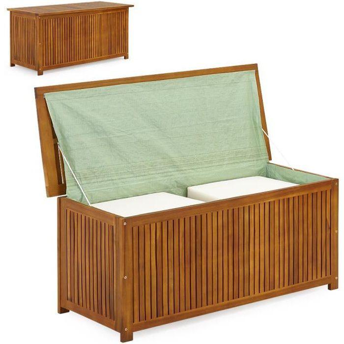 coffre bois rangement exterieur achat vente pas cher. Black Bedroom Furniture Sets. Home Design Ideas