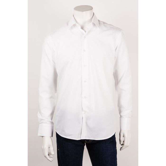 1695dce86e6ad STEVEN BEE Chemises homme chemis... Blanc - Achat   Vente chemise ...
