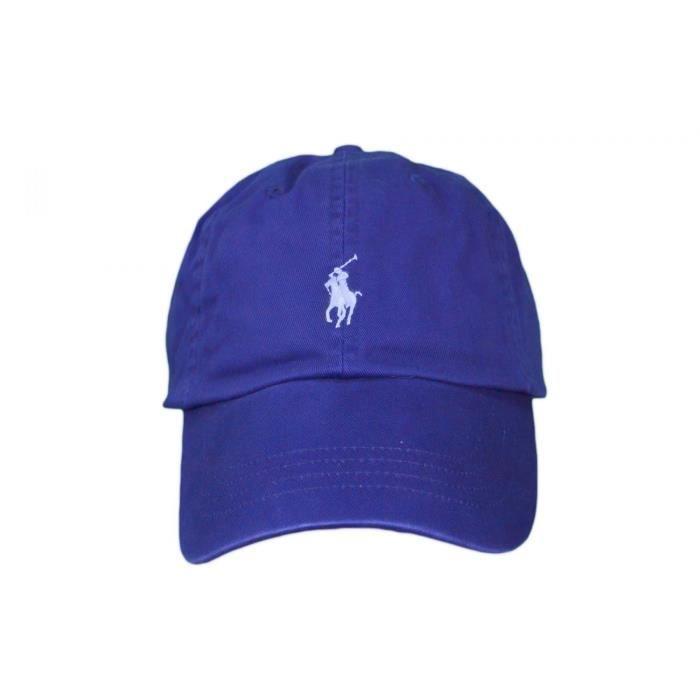 d458169e3b0109 Casquette basique Ralph Lauren bleu roi mixte - Couleur  Bleu ...