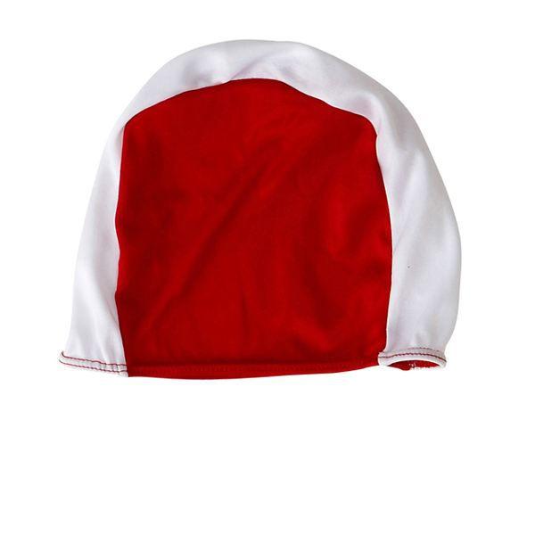 BONNET PISCINE- CAGOULE Bonnet de bain natation piscine adulte Blanc-rouge