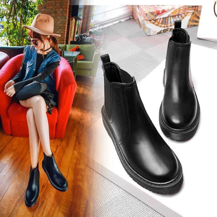 Bottes Femmes Hiver Longues Bottes Pour Femmes élégant Confortable Plates Haute Women Shoes Première couche de Plus de cachemire